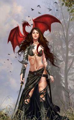 Dragon Witch  Fantasy Art