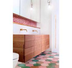 Modern retro bathroom