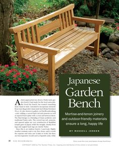 Captivating Free Garden Bench Woodworking Plan Projects And Plans