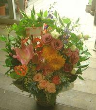 花ギフトのプレゼント【BFM】 カラフルな豪華 そんなフラワーアレンジメント http://www.basketflowermarkets.com