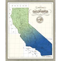 Gradient California Framed Giclee