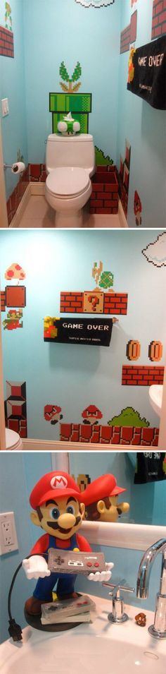 A Mario Bathroom... the coolest ever bathroom for gamers.