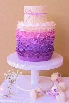 Beautiful Ombre Cake Ideas For All Occasions #Baby shower cake #Purple #Emma-Lee Cake Design | http://www.sassydealz.com/2014/01/beautiful-ombre-cake-ideas-for-all.html