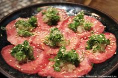 Beef Tongue with Onion Scallions Sesame Seeds at 大腕 in Taiwan