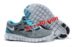 #Frees30 com Over 50% Off Shoes,$54.58 Nike Free Run 2 Size 12 Cool Grey White Anthracite Chlorine Blue