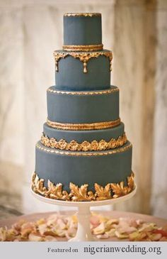 Wedding Trends: 20 Metallic Gold This cake is just over the top gorgeous. If you are looking for luxury, you have found it.