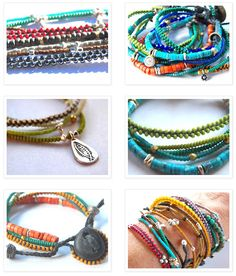 "Beautiful DIY ""Bohemian"" Summer Bracelets. MUST DO"