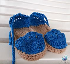 Crochet Baby Espadrilles (Photo Prop) on Etsy