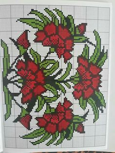 Cross Stitch Charts, Cross Stitch Patterns, Cross Stitch Flowers, Cross Stitching, Beading Patterns, Punto Cruz Gratis, Cross Stitch Embroidery, Cross Stitch Pictures, Beaded Cross Stitch