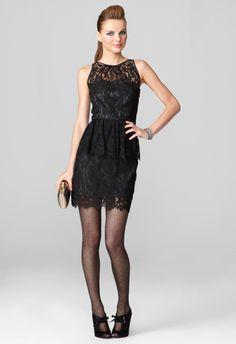 LIZA PEPLUM DRESS by Milly | lace dress | little black dress | peplum