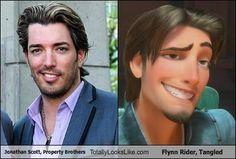 Hahaha! Yes, Flynn Ryder/ Johnathan property brother #Disney #tangled #flynryder