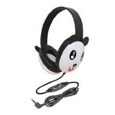 Panda head phones...  Freja has these, although it's ears have fallen off.