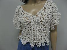 Crochet white boleroTrendy crochet shot by CrochetDressTalita