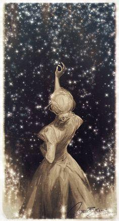 Wonderful illustration of charlie bowater Art Anime Fille, Anime Art Girl, Art And Illustration, Cute Wallpapers, Wallpaper Backgrounds, Art Sketches, Art Drawings, Art Du Croquis, Moon Art