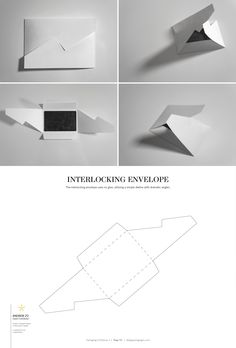 Interlocking Envelope – structural packaging design dielines