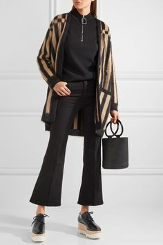 Stella McCartney   Faux glossed-leather platform brogues   NET-A-PORTER.COM