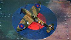 Supermarine Spitfire Mk.1a, P9953, ZP-A, No. 74 Squadron, Sq.-Ldr. D.F. Sailor Malan, RAF Battle of Britain, summer 1940 Supermarine Spitfire, Battle Of Britain, Ldr, Scale Models, Airplane, Sailor, Creative, Summer, Dioramas