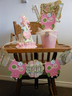 SAVE 15Shabby Chic Owl Ultimate 1st Birthday by ASweetCelebration
