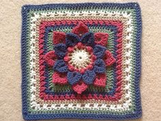 Ravelry: Crocodile Stitch Afghan Block - Dahlia pattern by Joyce Lewis