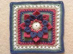 Ravelry: Crocodile Stitch Afghan Block - Dahlia pattern by Joyce Lewis - free crochet pattern