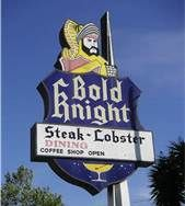 Bold Knight Restaurant in San Jose - Known for their Cheese Fondue with Sour Dough Bread and Steak & Lobster tails. Wish I were there now!