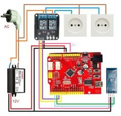 Smart Power Socket Control From Your Smartphone Via Bluetooth: Smart power socket via Arduino, what could be easier. This power socket controll via Bluetooth, smartphone or tablet used. Arduino Bluetooth, Electronic Engineering, Electrical Engineering, Diy Electronics, Electronics Projects, Smartphone, Raspberry Pi Projects, Home Camera, Google Calendar