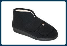 Pantofino Damen-Hausschuh mit Doppel-Klett und bequemen Obermaterial aus Soft Fleece 36 EU - Hausschuhe für frauen (*Partner-Link)