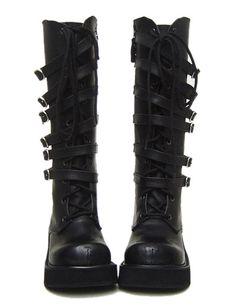 Gothic Lolita platform buckle Boots