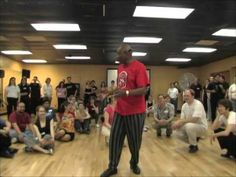 Frankie Manning's class, part 1 - YouTube