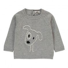 The very best Baby Fashion brands are available on Smallable, the Family Concept Store. Discover our large and beautiful selection of Boy Round neck Crochet Baby Cardigan, Knit Baby Sweaters, Girls Sweaters, Baby Knits, Baby Boy Knitting Patterns, Knitting For Kids, Baby Outfits, Kids Outfits, Knit Basket
