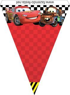 como hacer banderines de cars para imprimir - Buscar con Google