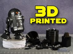 Water Rockets is proud to release this nearly ¼ Scale accurate Printed Star Wars Astromech Droid Replica 3d Printer Designs, 3d Printer Projects, Cnc Projects, 3d Printing Diy, Star Wars Room, Star Wars Prints, Star Wars Droids, 3d Prints, 3d Design