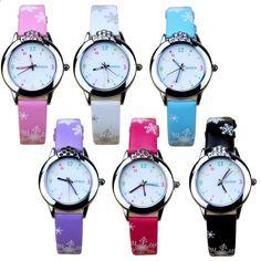 54a7d66f0df JOYROX 6 Barvy Dětské náramkové hodinky 2018 Nové kreslené kytarové dítěti Děti  Hodinky pro dívky Vysoce kvalitní kožené popruhy Boys Clock