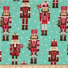 Michael Miller Holiday Nutcrackers Aqua