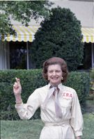 First Lady Betty Ford expressing her support for the Equal Rights Amendment in Hollywood, Florida, 02/25/1975. (National Archives, Ford Presidential Library, ARC 5730761)
