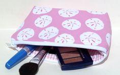 Makeup Bag/Zippered Pouch Padded Flat Bottom by nangatesdesigns, $14.00