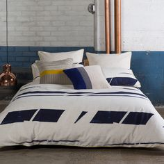 Broken+Stripe+Navy+Quilt+Cover+Set+|+More+Sizes+Available+by+KAS+Room+on+POP.COM.AU