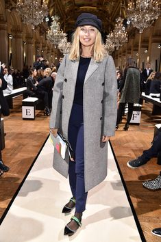 Alexandra Golovanoff attends the Lanvin show as part of the Paris Fashion Week Womenswear Fall/Winter 2017/2018 on March 1, 2017 in Paris, France.