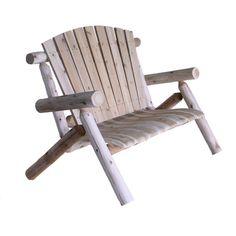 LOVE this. Selling it on eBay Outdoor Wood Park Bench 4-Foot Love Seat Cedar Log Porch Yard Garden
