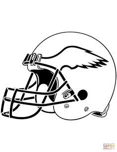Football Helmet Coloring Pages 01 | football lockers ...