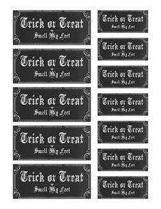 Trick or Treat Smell My Feet Labels by VectoriaDesigns on deviantART
