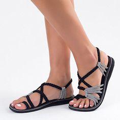 Amazon.com   Plaka Flat Summer Sandals for Women Palm Leaf   Flats