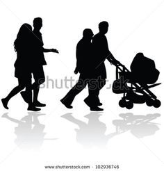 Stock Images similar to ID 124563244 - family silhouettes vector