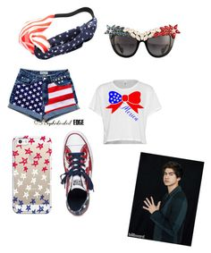 """4th of July party with Calum"" by x5sauceloverx on Polyvore featuring Converse, Anna-Karin Karlsson, Chicnova Fashion and Casetify"
