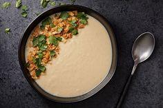 Root Vegetables, Veggies, Chefs, Kinds Of Soup, White Soup, Bowl Of Soup, White Beans, Fresh Lemon Juice, Tahini