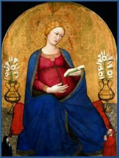 Bendita seas María, Virgen y Madre.  El Señor te lleno de gracia y alegría en la Dulce Espera de Jesús.  Te rogamos por la...
