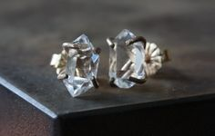 We love the rough glitter of Herkimer diamonds.