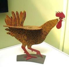 Marvin Finn folk art - wood sculptures, birds and patterns.