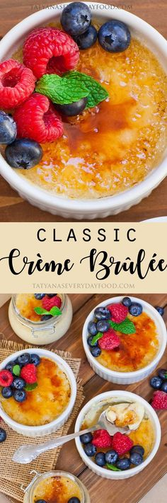 The classic creme brulee – one of the most delicious, elegant and timeless French desserts! I always order this dessert when we're out to dinner and I see it on the menu. It's one of those classic desserts that never gets old and always tastes delicious. Elegant Desserts, Classic Desserts, French Desserts, French Food, Easy Desserts, Delicious Desserts, Best Tiramisu Recipe Ever, Tatyana's Everyday Food, Brulee Recipe
