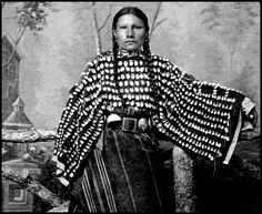 Cheyenne woman and daughter of Black Short-Nose. Photographed: ca 1890s. - National Anthropological Archives, Smithsonian Institution.
